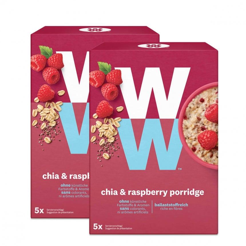 WW Porridge mit Chia & Himbeere Doppelpack