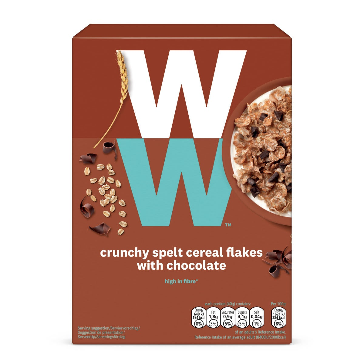 WW Knusper-Dinkel-Müsli mit Schokolade