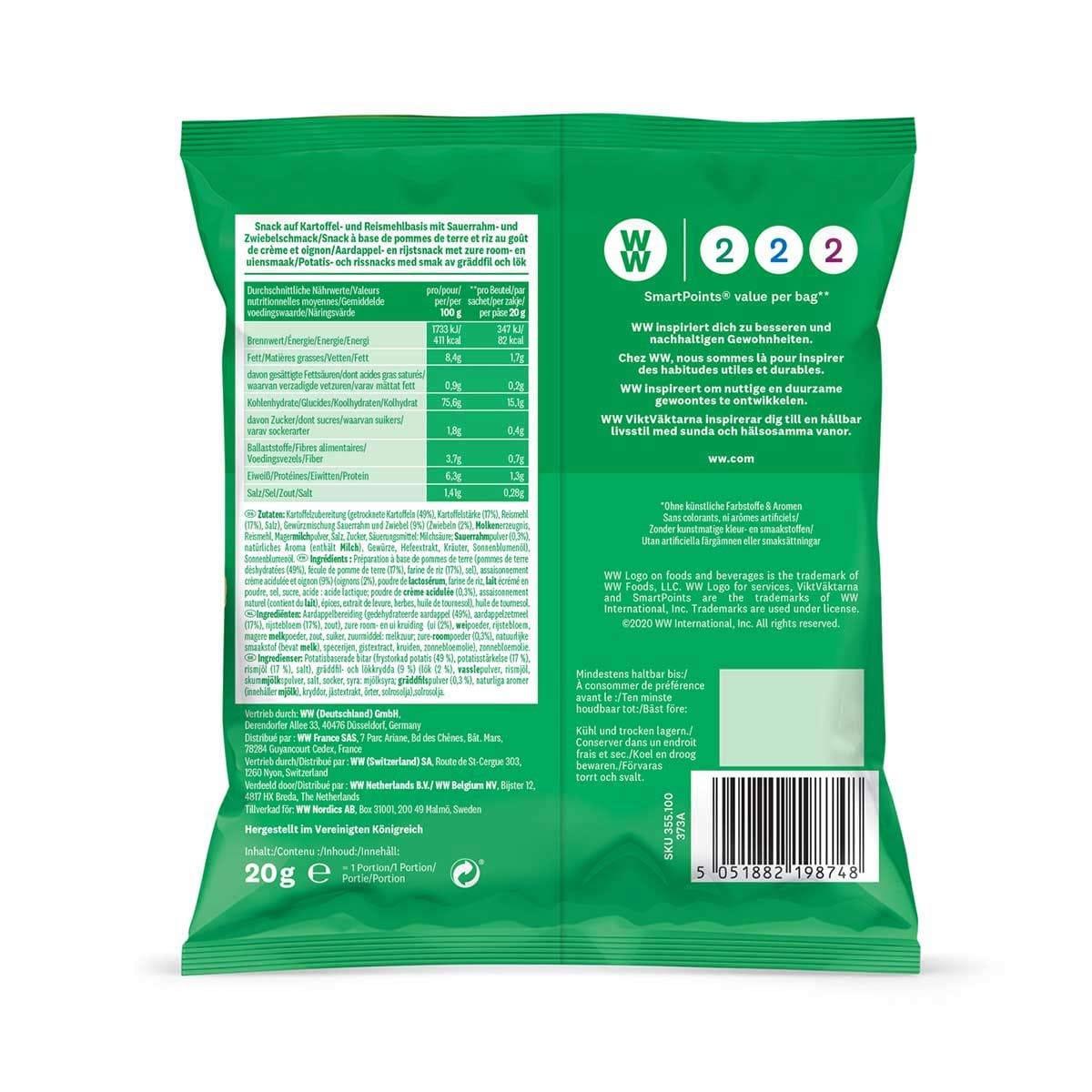 WW Pack de 5 sachets de chips crème et oignon 3