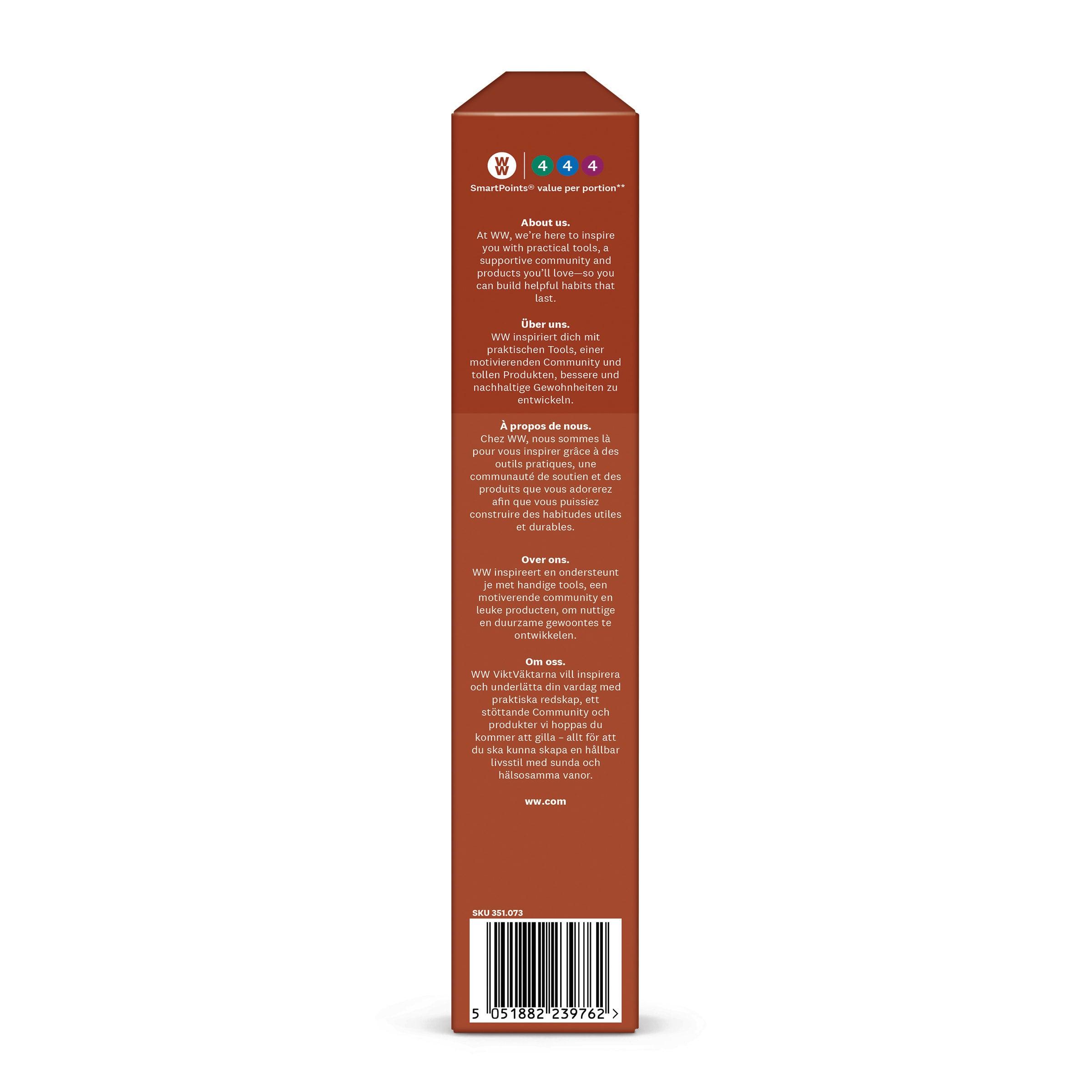 WW Knusper-Dinkel-Müsli mit Schokolade Verpackung seitlich Smartpoins-Angabe