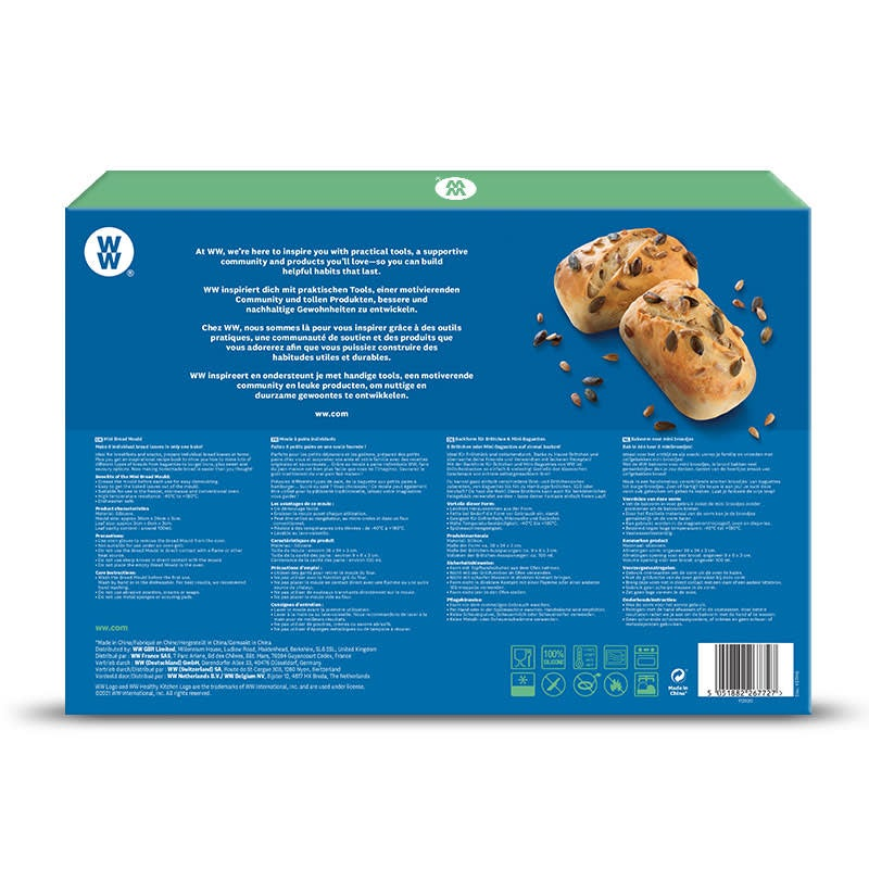 WW Brot Bachform Rückseite Verpackung
