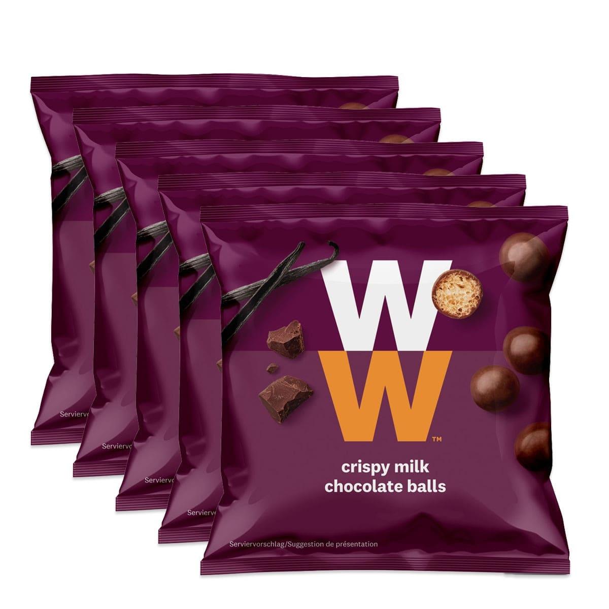 WW Knusperkugeln Milchschokolade 5er Pack
