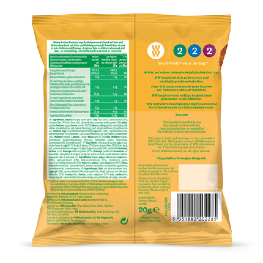 WW Chips saveur fromage et oignon 3