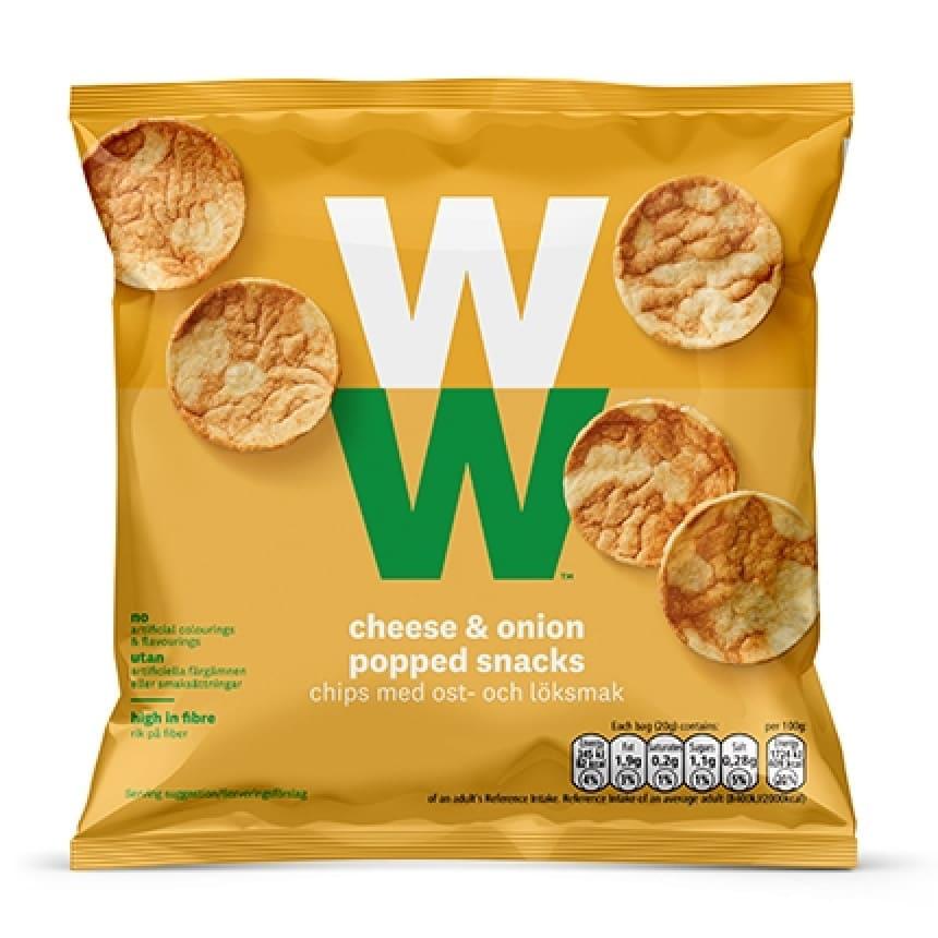 WW Chips mit Käse und Zwiebel
