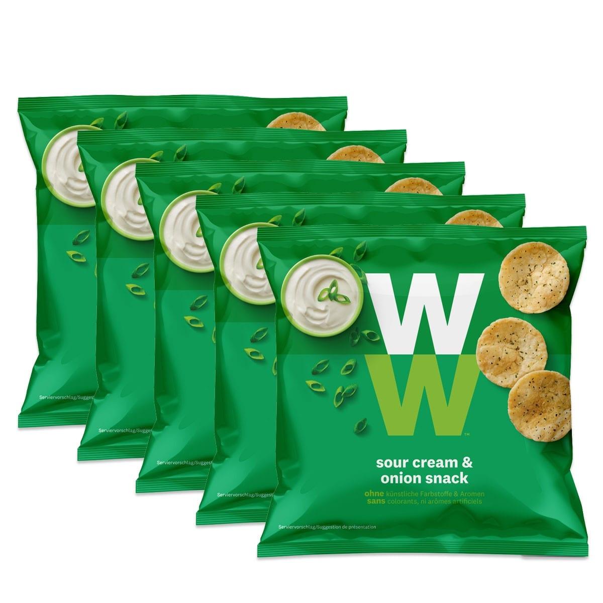 WW Chips Sauerrahm & Zwiebel 5er Pack