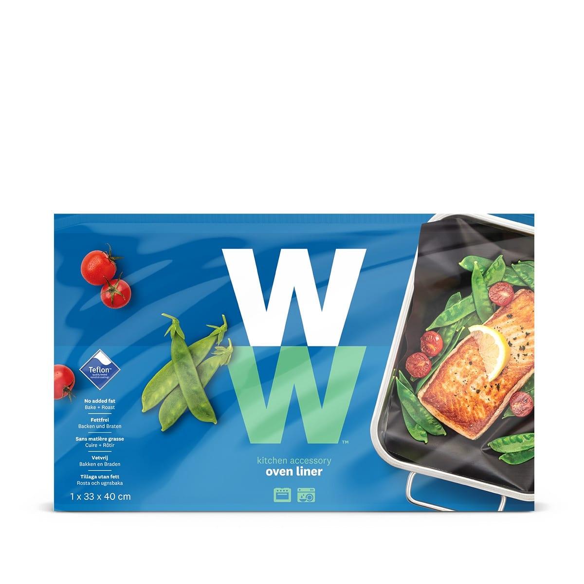 WW Backfolie für Mehrfachverwendung in blauer und grüner Verpackung mit Produktbild