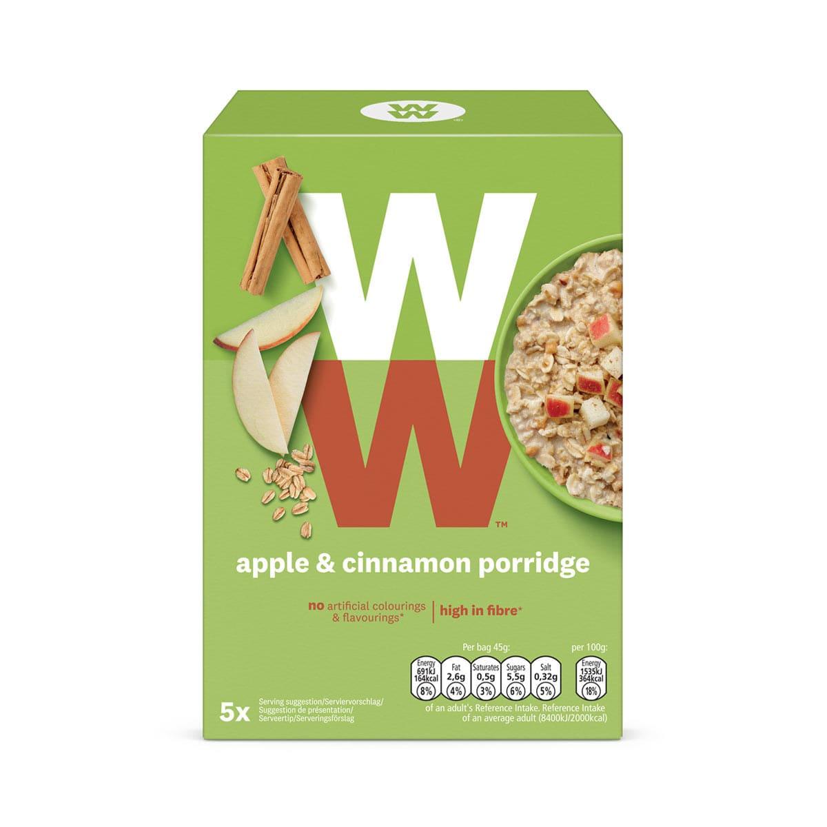 WW Porridge mit Äpfeln und Zimt