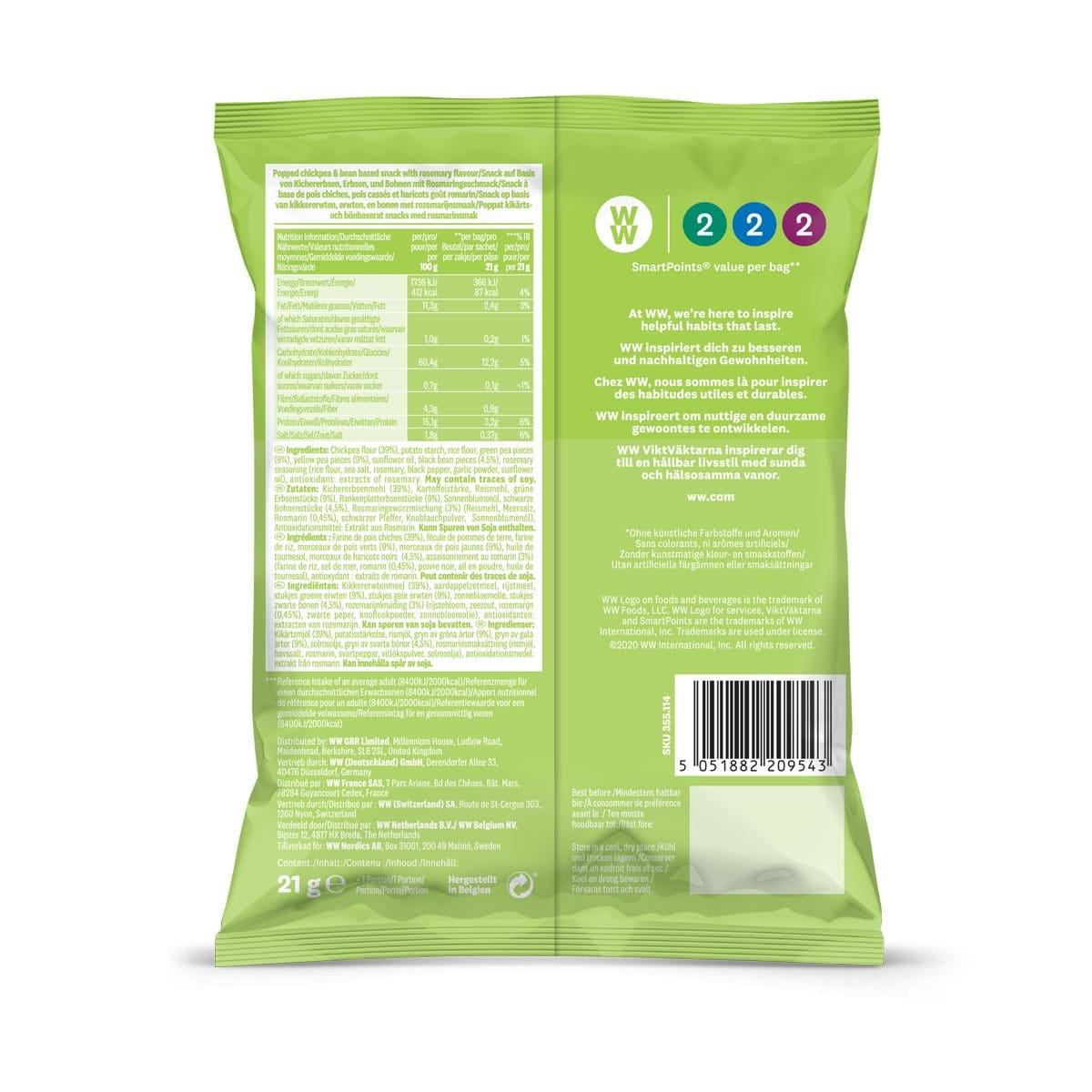 WW Chips de haricot saveur romarin 1