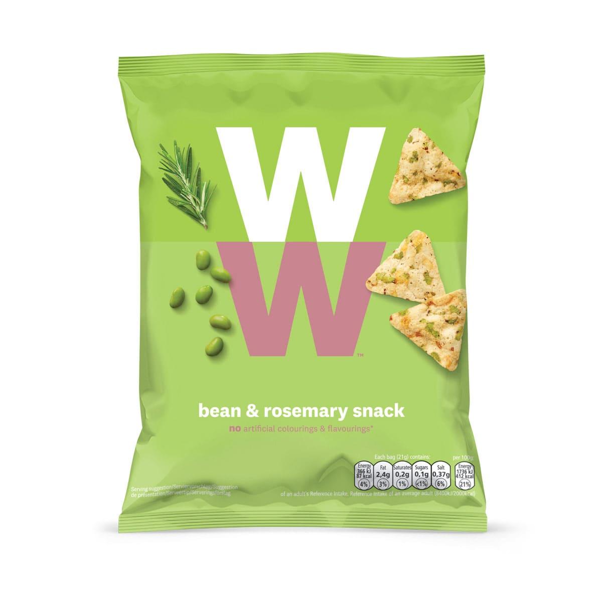 WW Chips auf Bohnen Basis mit Rosmarin-Geschmack