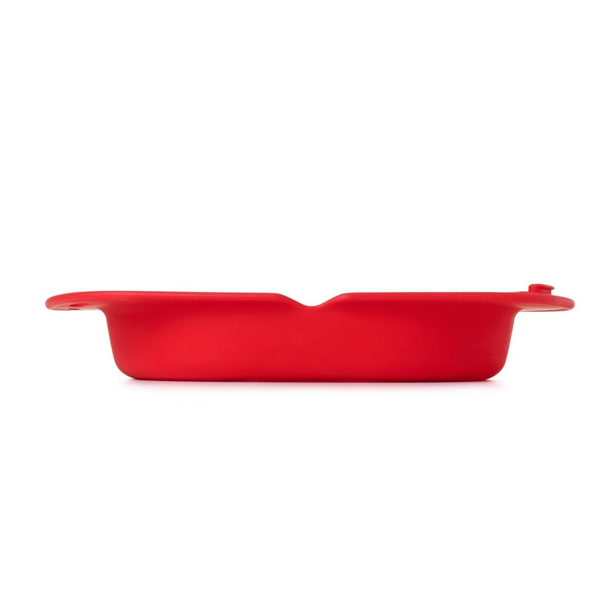 Oxo Omelette Maker, rouge vue de côté 2