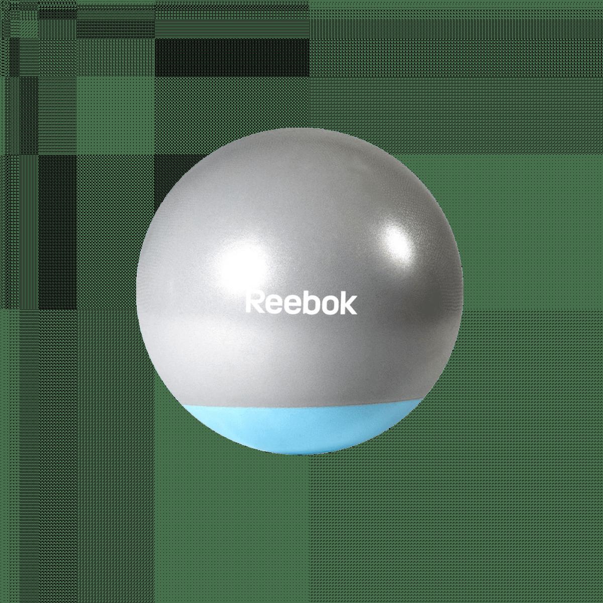 Reebok Gymnastikball aus Gummi blau und grau
