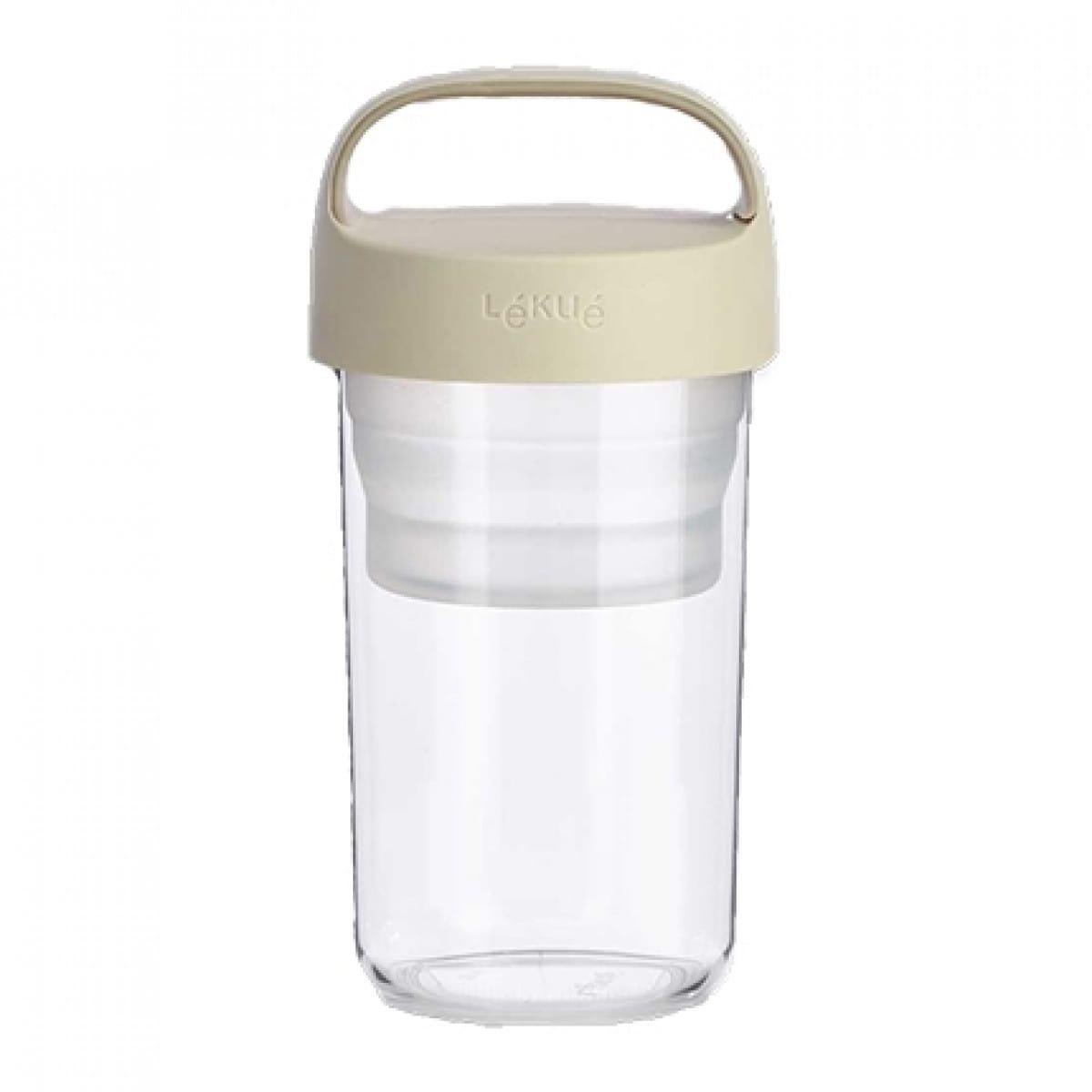Lékué Transportdose (600 ml)  aus Plastik  mit beigem Deckel