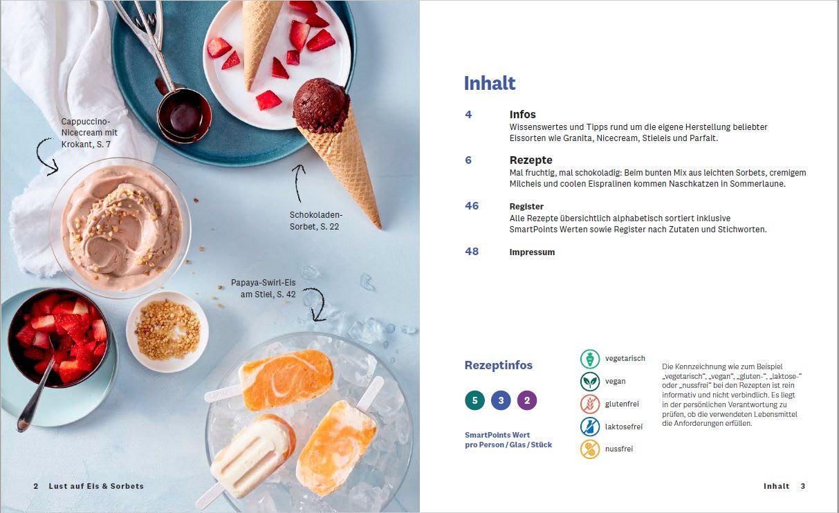Kochbuch Lust auf Eis und Sorbet Inhalt2