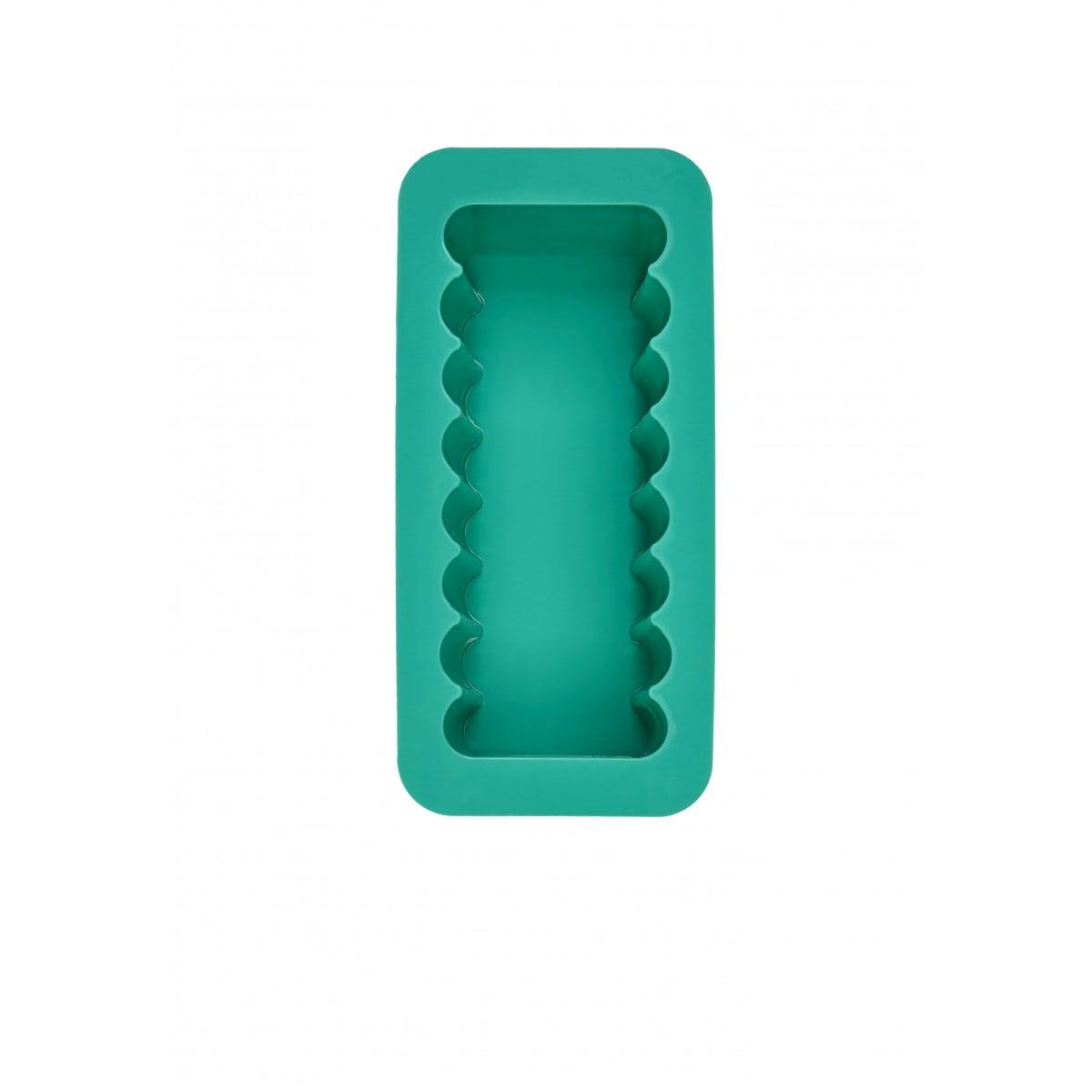 WW Moule carré en silicone vert vue d'en haut 2