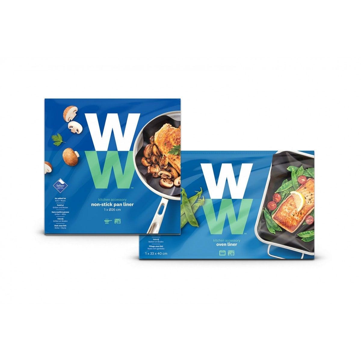 WW Backofen- und Bratfolie Doppelpack in blauer Verpackung mit Produktbild