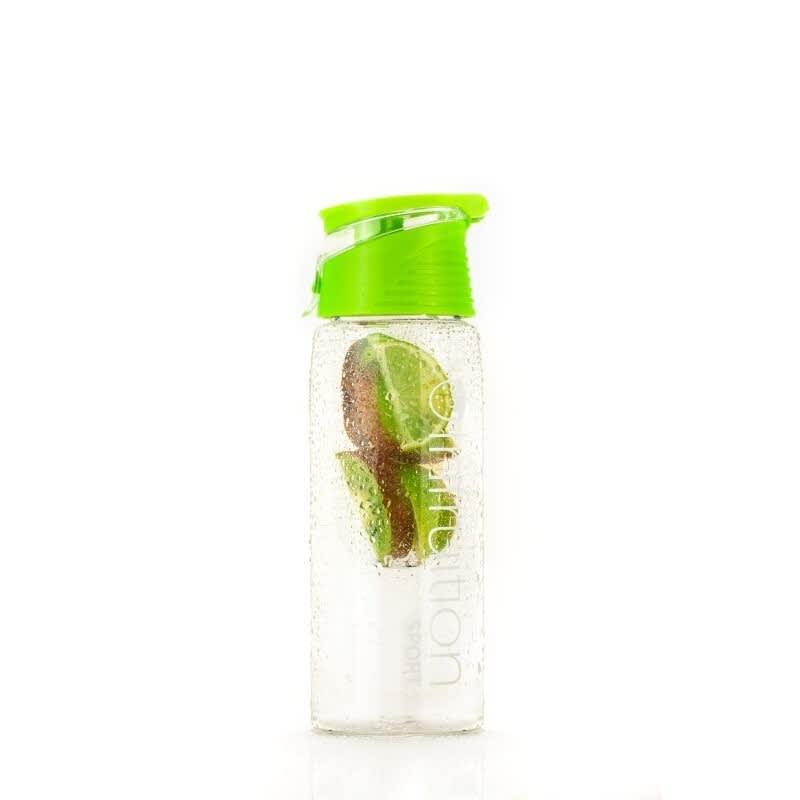 WW Sport Trinkflasche aus Plastik grün mit Zitrone drin