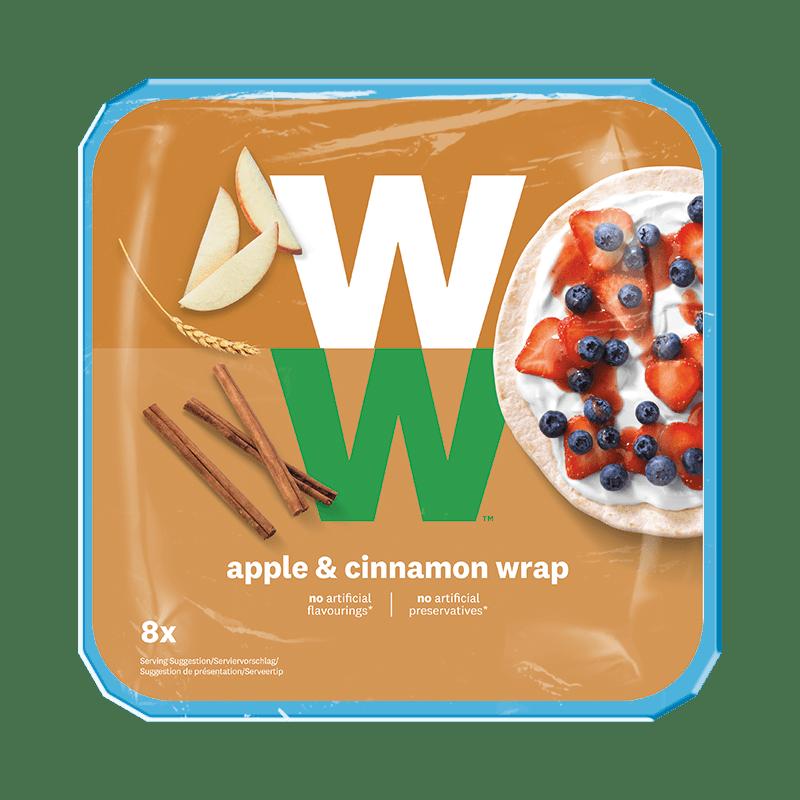 WW Wrap mit Apfel & Zimt Geschmack Verpackung Vorderseite