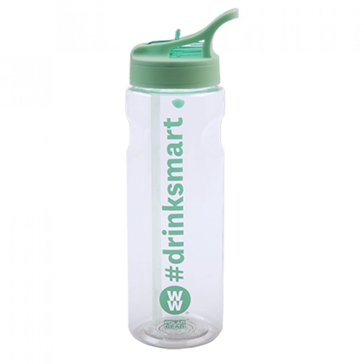 WW Trinkflasche aus Plastik türkis und weiß